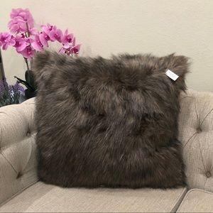 Threshold Faux Fur Throw pillow brown